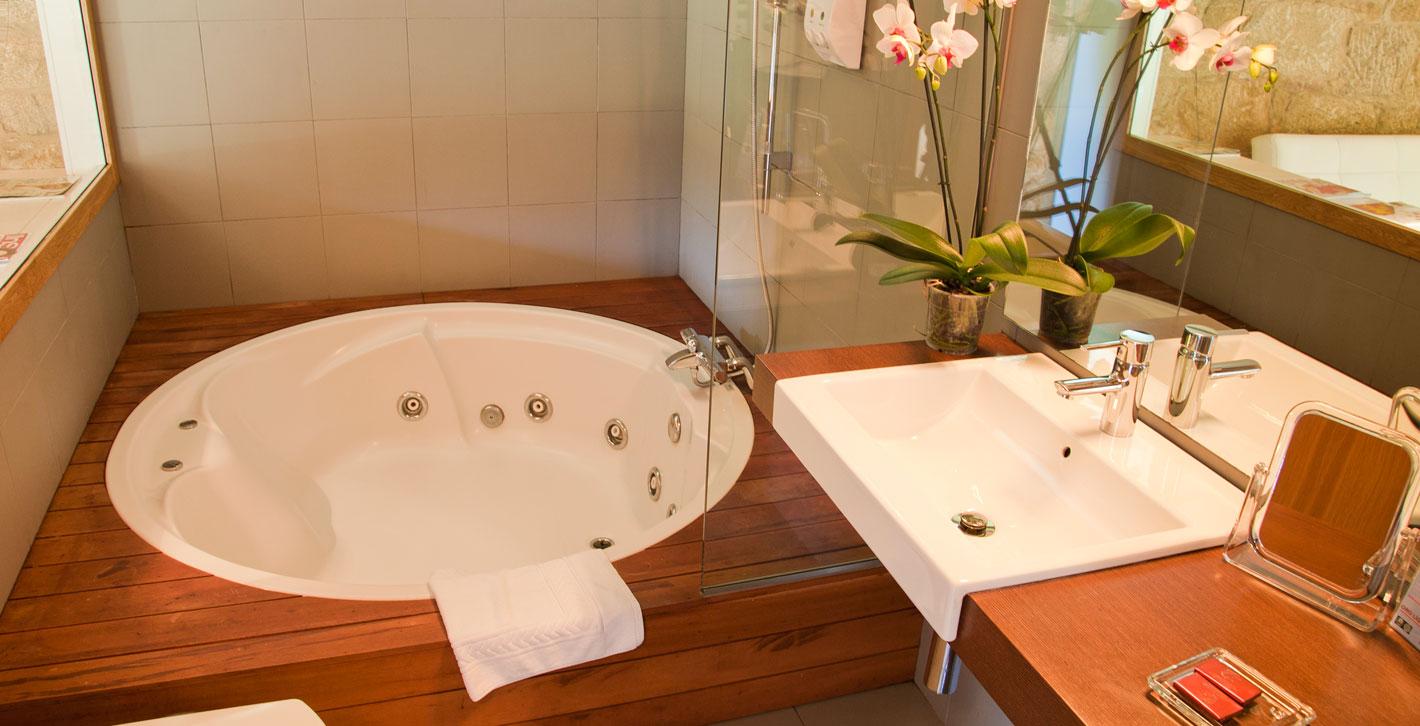 Baño habitación A Cabana de Carmen